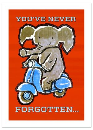 Elephants Never Forget Father's Day Greeting Card