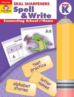 Skill Sharpeners Spell & Write, Pre-kindergarten