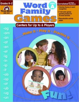 Word Family Games, Centers for Up to 6 Players, Level A