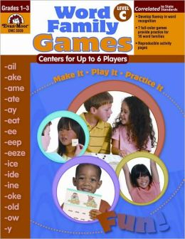 Word Family Games, Centers for Up to 6 Players, Level C