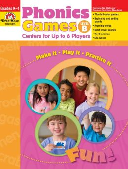 Phonics Games: Centers for Up to 6 Players, Level B