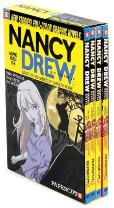 Nancy Drew Girl Detective Boxed Set: The Fake Heir; Mr. Cheeters Is Missing; The Charmed Bracelet; Global Warning