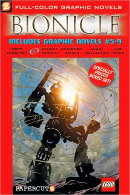 Bionicle Graphic Novels #5-9 Boxed Set