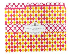 Jonathan Adler Diamond Print File Folders