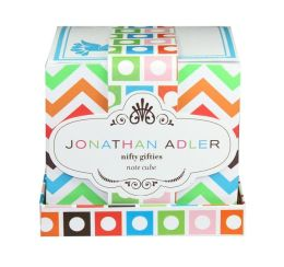 Jonathan Adler Multi Chevron Print Note Cube