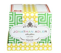 Jonathan Adler Greek Key Print Note Cube