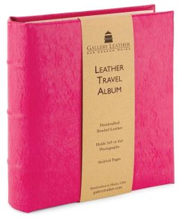 Raspberry Leather Travel Photo Album