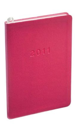 2011 Weekly Desk Pink Pebble Grain Planner Calendar