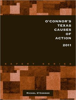 O'Connor's Texas Causes of Action