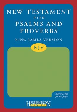 KJV New Testament with Psalms and Proverbs, Green, Magnetic Flap