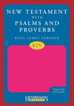 KJV New Testament with Psalms and Proverbs, Pink, Magnetic Flap