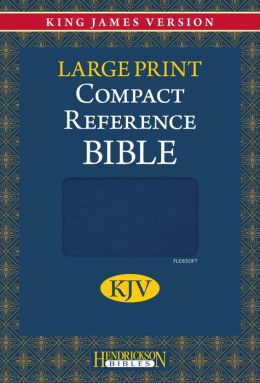 KJV Compact LP Reference Bible, Blue