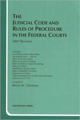 The\Judicial Code and Rules of Procedure in the Federal Courts