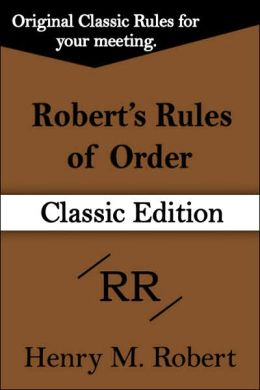 Robert's Rules of Order