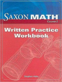 Saxon Math Course 2, Written Practice Workbook
