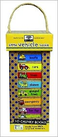 green start book towers: little vehicle books (10 Chunky Books Made from 98% Recycled Materials)