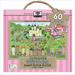 Green Start Giant Floor Puzzles: Princess Fairyland (Earth Friendly 60 PC Puzzles with Handy Carry & Sstorage Case)