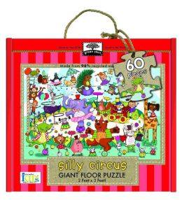 Green Start Giant Floor Puzzle: Silly Circus (60 Piece Floor Puzzles Made of 98% Recycled Materials)