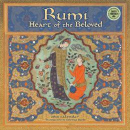 2014 Rumi, Heart of the Beloved Wall Calendar