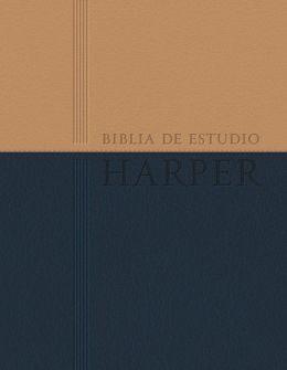 Biblia de estudio Harper: Duo tono con indice