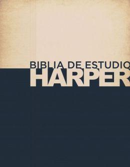 Biblia de estudio Harper: Tapa dura con indice