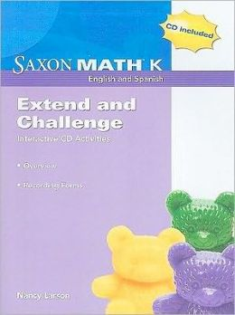 Saxon Math K: Extend and Challenge Interactive CD Activities: Recording Forms [With CDROM]
