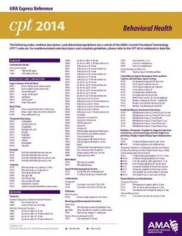 CPT 2014 Express Reference Coding Card OMS/ Dental