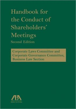 Handbook for the Conduct of Shareholders' Meetings