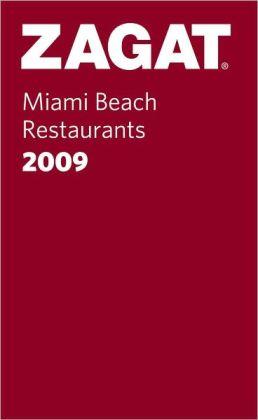 Zagat Miami Beach Restaurants Pocket Guide 2009