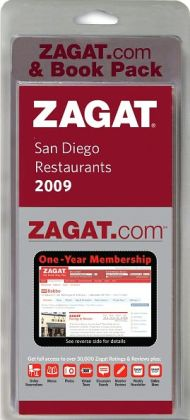 Zagat.com and Book Pack San Diego Restaurants 2009