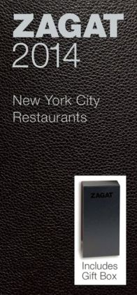 Zagat New York City Restaurants Black Leather Gift Box 2014