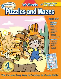 Hooked on Learning 1st Grade Puzzles and Mazes Workbook