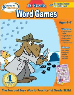 Hooked on Phonics 1st Grade Word Games Workbook