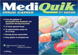 MediQuik Drug Cards (Seventeenth Edition)
