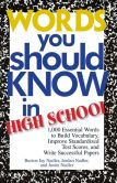 Book Cover Image. Title: Words You Should Know In High School:  1000 Essential Words To Build Vocabulary, Improve Standardized Test Scores, And Write Successful Papers, Author: Burton Jay Nadler