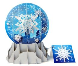 HOLIDAY SNOWFALL POP-UP SNOW GLOBE CHRISTMAS BOXED CARD