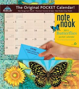2011 Butterflies Note Nook Wall Calendar