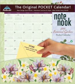 2011 Botanical Garden Note Nook Wall Calendar