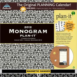 2012 Monogram Plan-It Plus Calendar