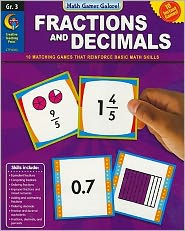 Fractions & Decimals, Gr 3 - Math Games Galore
