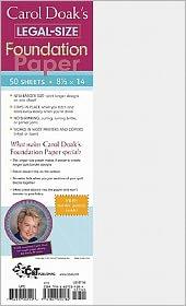Carol Doak's Legal-Size Foundation Paper