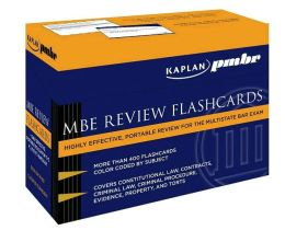 Kaplan PMBR: MBE Review Flashcards
