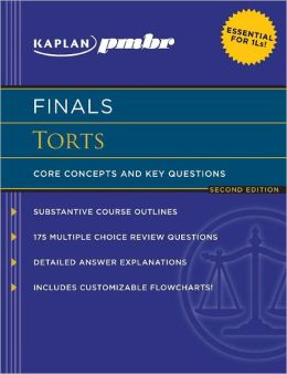 Kaplan PMBR FINALS: Torts: Core Concepts and Key Questions