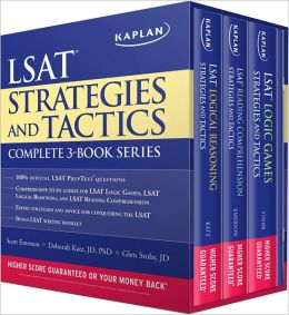 Kaplan LSAT Strategies and Tactics Complete 3-Book Series