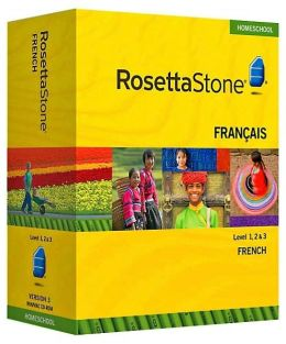 Rosetta Stone Homeschool Version 3 French Level 1, 2 & 3 Set: with Audio Companion, Parent Administrative Tools & Headset with Microphone