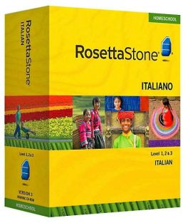 Rosetta Stone Homeschool Version 3 Italian Level 1, 2 & 3 Set: with Audio Companion, Parent Administrative Tools & Headset with Microphone