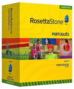 Rosetta Stone Homeschool Version 3 Portuguese (Brazilian) Level 2: with Audio Companion, Parent Administrative Tools & Headset with Microphone
