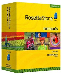 Rosetta Stone Homeschool Version 3 Portuguese (Brazilian) Level 1 & 2 Set: with Audio Companion, Parent Administrative Tools & Headset with Microphone