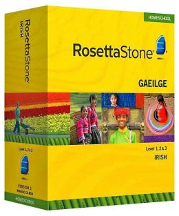 Rosetta Stone Homeschool Version 3 Irish Level 1, 2 & 3 Set: with Audio Companion, Parent Administrative Tools & Headset with Microphone
