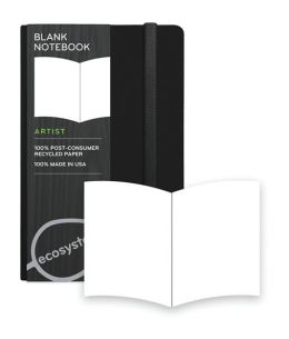 Ecosystem 100% Recycled Hard Blank Onyx Journal (3.6''x5.6'')